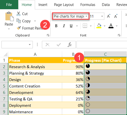 Apply the custom formula