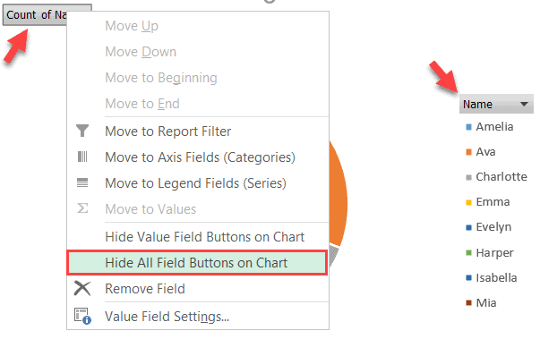 Hide all buttons on chart